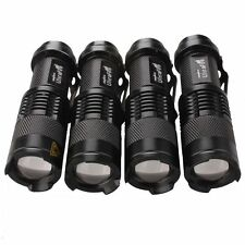 4PCS Mini 1000LM 3-Mode Zoomable Focus Power CREE Q5 LED Flashlight Torch Light