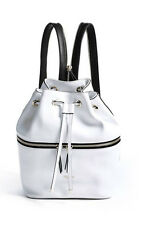NWT GUESS $98 Jerry Zip Backpack Hobo Handbag White