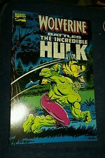 Marvel(1989)Wolverine Battles The Incredible Hulk(180-181)Tpb prestige format gn