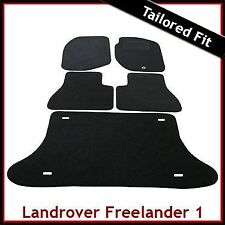 Land Rover Freelander Mk1 1997-2006 Tailored Carpet Car Floor & Boot Mats BLACK