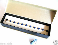 CHILEAN LAPIS LAZULI & STERLING SILVER 950 BRACELET – Jewelry / Accessory