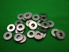 Extra thick flat spacer washers, steel, M6, 3mm thick, pack of 25, zinc plated
