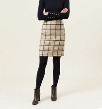 HOBBS Tiffany Check Skirt, size UK 10