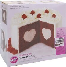 Wilton Heart Tasty-Fill Cake Pan Set 2pcs Baking Supplies
