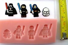 STAR WARS LEGO VILLIANS SILICONE MOULD FOR CAKE TOPPERS, CHOCOLATE, CLAY ETC