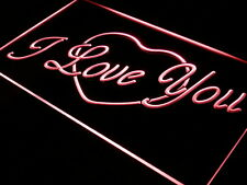 i362-r I LOVE YOU HEART DISPLAY GIFT Neon Light Sign
