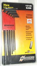 HLX6M Bondhus Long 6 Piece Metric Hex Key Allen Set 12146