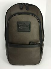 COACH F71995 Backpack Laptop Carry On Men's Printed Coated Canvas Espresso NWT