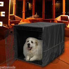 "Dog Crate Pet Cage Kennel COVER ONLY Black MidWest Quiet Time Breathable 48"" XXL"
