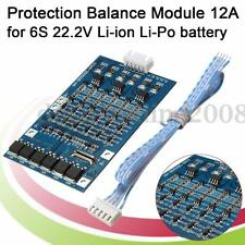Protection Module Board BMS PCM 12A Pr 6S 22.2V Li-ion Li-Po Batterie Lithium
