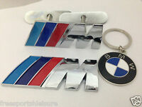 Front Grill+ Rear Boot Badge BMW M Sport chrome finish,good quality+ bmw keyring