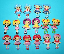 Lalaloopsy Cake Decorations 16 Cupcake Toppers Doll Charms Party Favours NEW