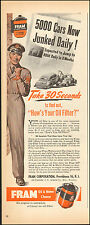 1944 Vintage ad for FRAM Oil & Motor Cleaner`Art Service Man retro cars (103115)
