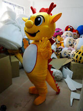 The New Professional yellow Dragon Mascot Costume Unisex Adult Size Fancy Dress