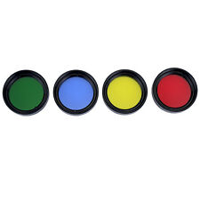 """Hot 1.25"""" Set of 4 Color Eyepiece Color Filter Metal&Glass for Telescope + Track"""