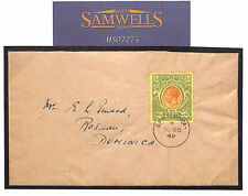 MS2275 1949 DOMINICA KGV HIGH VALUE 5s Very Fine Used Cover *Roseau* ATTRACTIVE