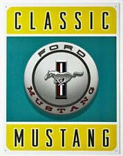 Classic Mustang Tin Metal Sign Ford 5.0 GT Shelby Cobra 289 Pony Fastback Fox Bo