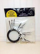 Disney Nightmare Before Christmas 4 Paper Party Arrow Hats 1993 New in Bag