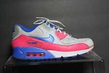 Nike Air Max 90 Retro '14 Running Multi Pink Blue Women 8.5 Athletic Hip Grey