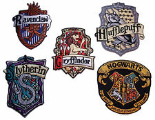 Harry Potter Set of 5 Crest Iron-on/Sew-on Embroidered PATCHES