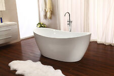 New 2016 Modern Pedestal Style Soaking Bathtub Tub w/ Floor Standing Faucet