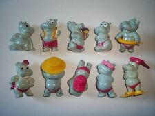 KINDER SURPRISE SET - HAPPY HIPPOS AT THE BEACH 1988 ALL ACCESSORIES - FIGURES