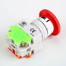 NC N/C Emergency Stop Switch Mushroom Push Button 4Screw Terminal UE