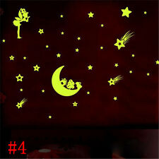 DIY Wall Sticker Moon and Stars Glow In The Dark Baby Bedroom Home Decro, D2882