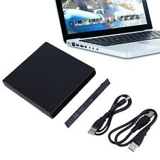 Portable USB 2.0 DVD CD DVD-Rom SATA External Case Slim for Laptop Notebook