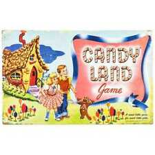 "RETRO STYLE COLLECTIBLE EMBOSSED METAL SIGN ""CANDY LAND"" BOARD GAME"""