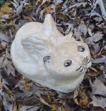 Poly plastic laying cat angel mold plaster concrete garden mould