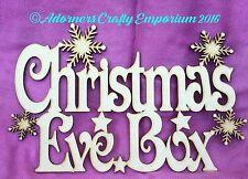 5 X Piccolo Legno MDF in legno Vigilia di Natale di topper solo 14 x 9cm
