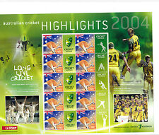 Australia SES sheet mint unhinged 2004 CRICKET HIGHLIGHTS