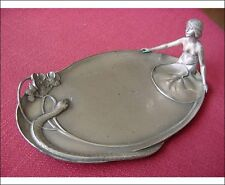 WMF Jugendstil Visiting Card Tray Silver plated Nude