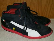 Men's FERRARI SERIES by Puma (Black,Red,& White) HIGHTOPS- Size 13