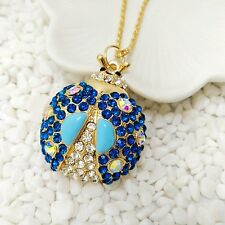 Fashion Jewelry Lovely Blue Beatles Pendants Sweater chain long necklace XL686