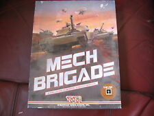 "USED SSI MECH BRIGADE GAME BIGBOX FOR COMMODORE 64 ON 5 1/4"" FLOPPY DISK."