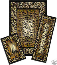 CAPRI 3 PIECE AREA RUG SET LEOPARD ANIMAL SKIN 831/373-J