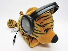"iFlops Orange Tiger Plush Stuffed Stereo MP3 Player iPod Speakers HTF 14"" Works!"