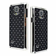 Amazing Black Bling Back Skin Phone Hard Cover Case For Samsung Galaxy Note 4 IV