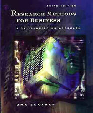 Research Methods for Business: A Skills Building Approach, 3rd Ed, Sekaran, Uma,