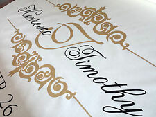Aisle Runner Wedding Monogram Isle Ceremony Decoration Ivory Fabric Handmade