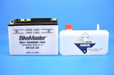 BikeMaster 6V 6N12A-2D Conventional Battery with Acid Pack  EDTM2612D