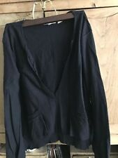 New without tags Inhabit black sweater - frayed edging front pockets boho chic M