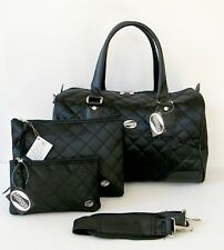 American Tourister Travel Set Quilted 3 Pc Accessory Cosmetic Purse HandBag