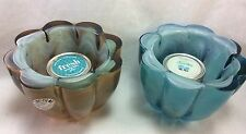 Recycled Glassware Candle Holder With BBW Votive Candle,Vitracolor. Select One.