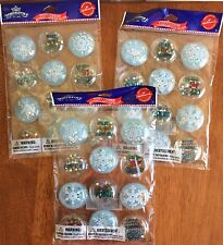 Hallmark Northpole Lot/3 Winter Puffy Stickers Snowflakes 12 pack 36 Total NEW