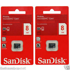 100% Original SANDISK MICROSD 8GB Memory Card (Combo of 2 Pcs) + FREE SHIPPING
