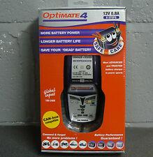 OPTIMATE 4 MOTORCYCLE BATTERY CHARGER OPTIMISER 12V CAN-BUS