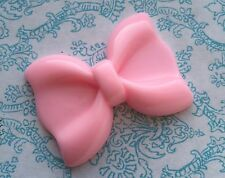 2x XL BIG barbie pink Baby bow ribbon resin cabochon embellishment flat back